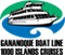 green & blue Gananoque Boat Line 1000 Islands Cruises logo